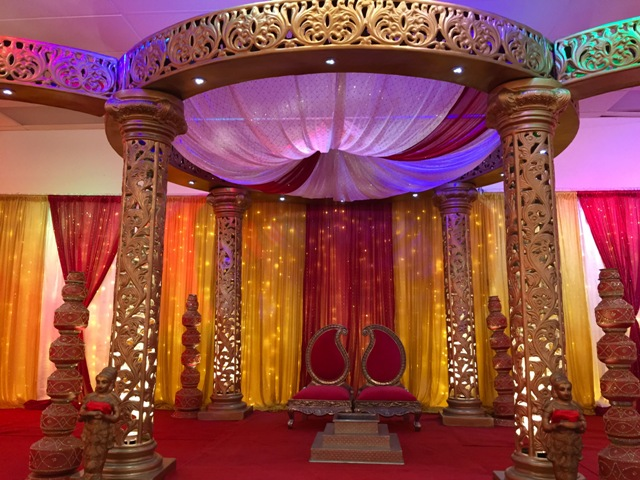 Services gold mandap junglespirit Images